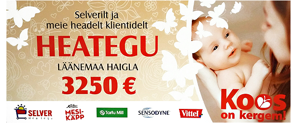 Selver toetas heategevuskampaania abil Läänemaa Haiglat 3250 euroga